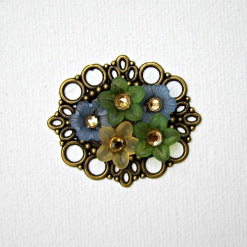 DIY garden flowers jewelry (via morenascorner)