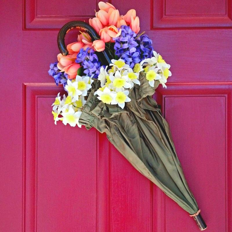 spring front door decor via sadieseasongoods - Home Decor Crafts