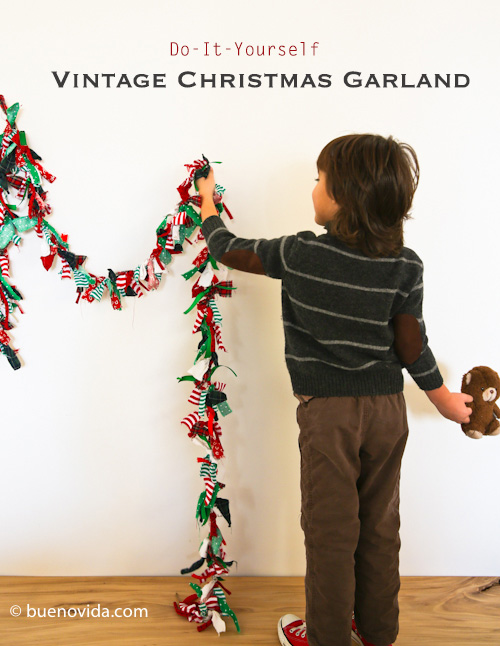 diy vintage fabric garland (via buenovida)