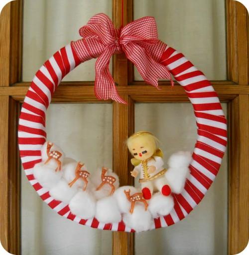 vintage Christmas wreath