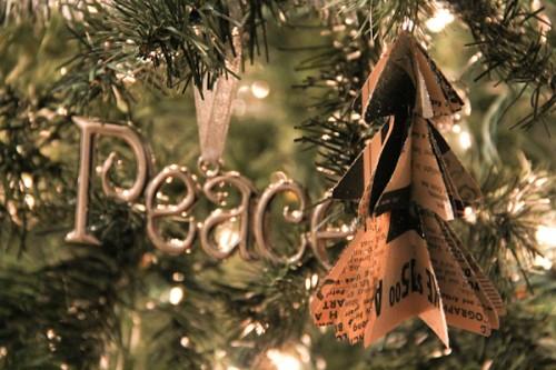 vintage mini-tree paper ornaments