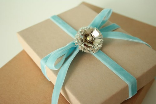 vintage Christmas gift wrapping (via mysparkle)