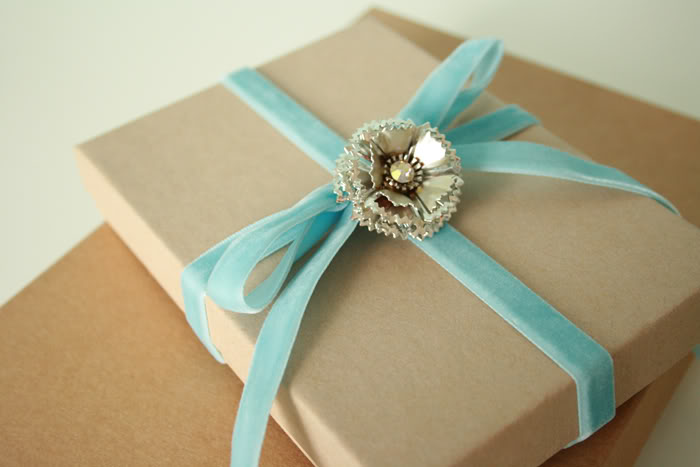 vintage Christmas gift wrapping