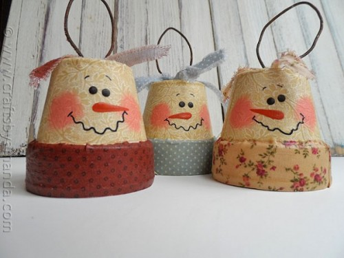 vintage clay pot snowmen (via craftsbyamanda)