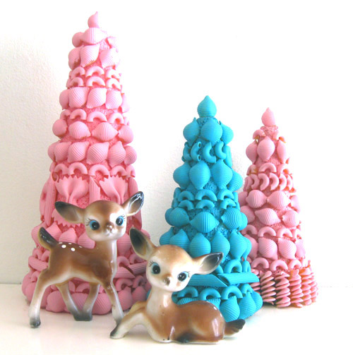 vintage inspired pasta trees (via blog)