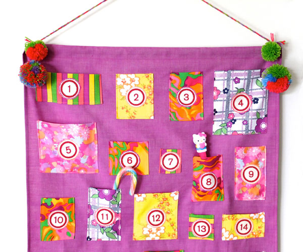 colorful vintage advent calendar