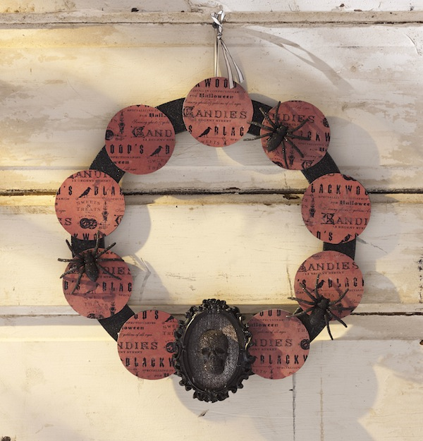 easy vintage Halloween wreath