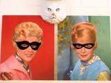 vintage Halloween masked portraits