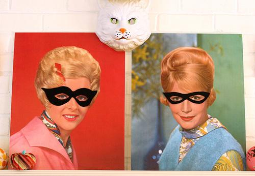 vintage Halloween masked portraits (via designsponge)