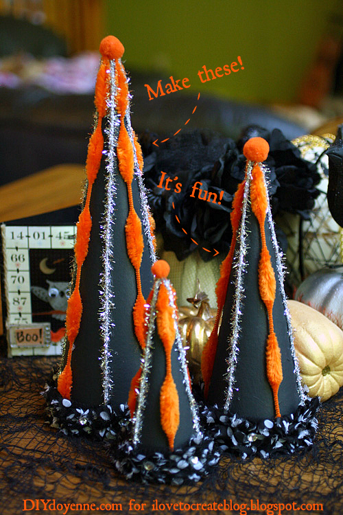 retro Halloween tabletop decor