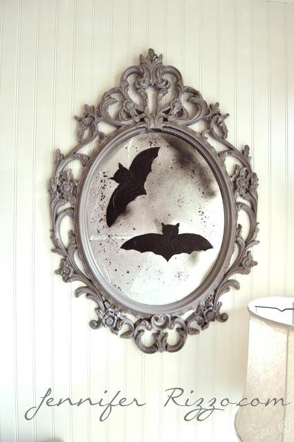 vintage Halloween mirror
