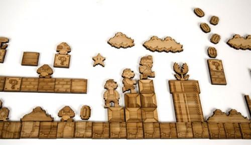 Bamboo Mario Inspired Fridge Magnets