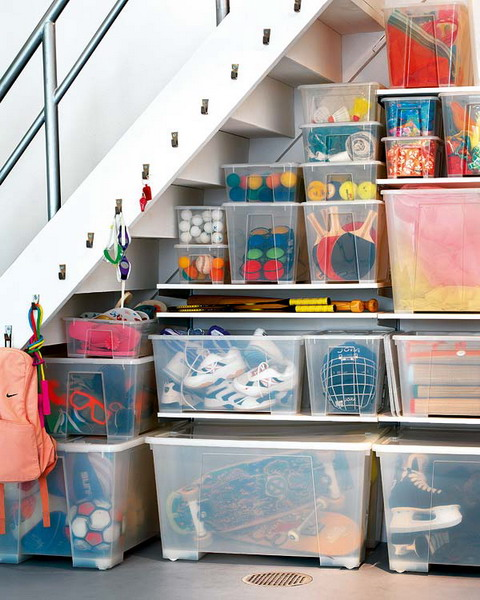 Basement Under Stairs Storage