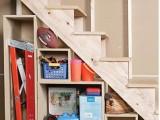 Basement Under Stairs Storage
