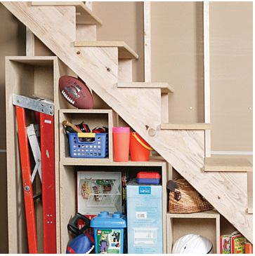 5 Basement Under Stairs Storage Ideas | Shelterness