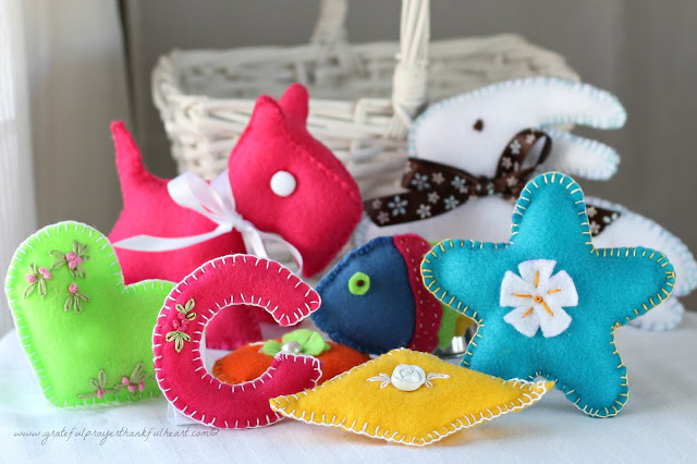 Basket Of Handmade Soft Felt Toys