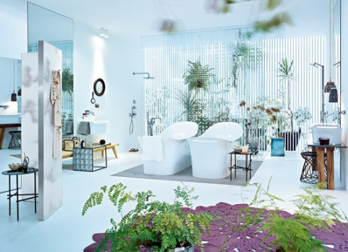cool bathrooms. 10 Cool Bathrooms Decorated With Natural Plants