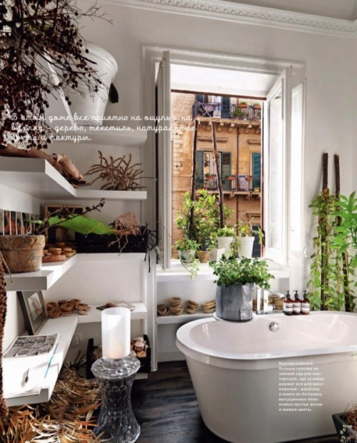 Bathroom With Natural Plants