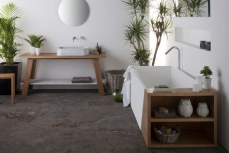 Bathroom vanity decor ideas shelterness - Bathroom With Natural Plants Shelterness
