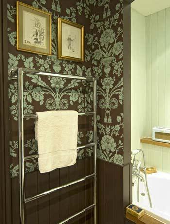 Popular Bathroom With Wallpaper