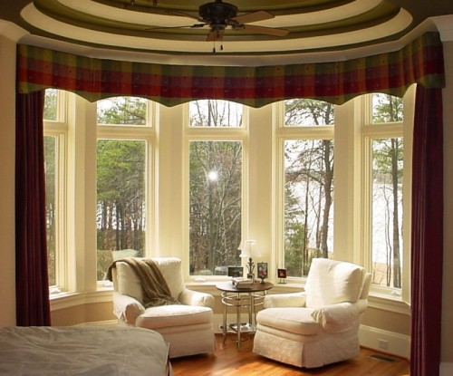 Bay window with no window treatments can push a space right into the backyard.