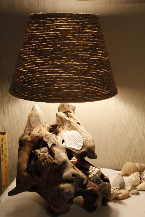 Beach Inspiration: 8 Simple DIY Driftwood Lamps