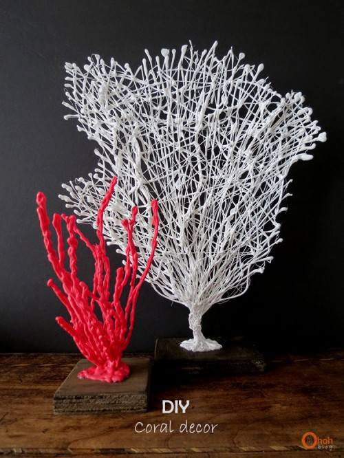 Beach Inspired Decor Diy Coral Of Wire