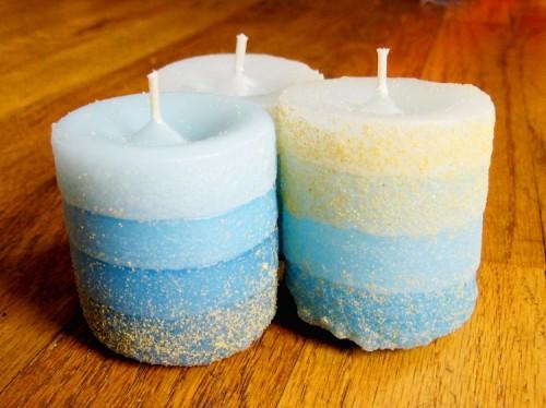 sand cast candles (via howdidyoumakethis)