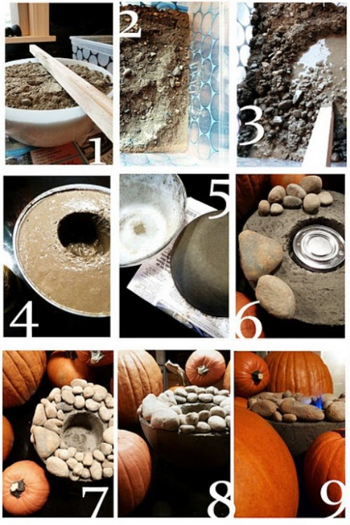 Beautiful diy concrete fire bowls for cool atmosphere shelterness