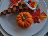paper cornucopia favors with candies