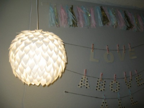 Beautiful Diy Felt Lamp