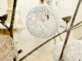 snowy balloon ornament