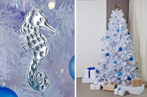 silver under the sea tree decorations (via taradennis)