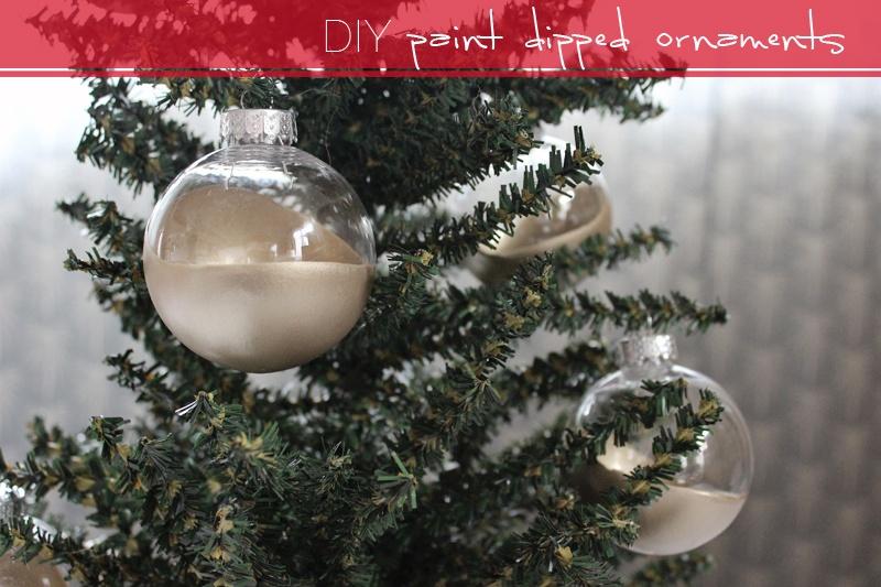 dip dye gold ornaments