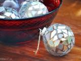 silver mosaic ornaments
