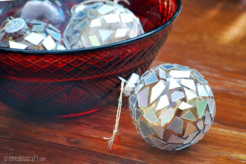silver mosaic ornaments (via shelterness)
