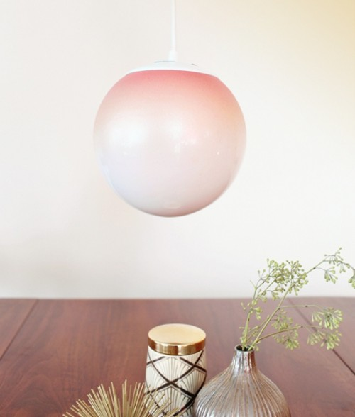 Beautiful Diy Ombre Lamps
