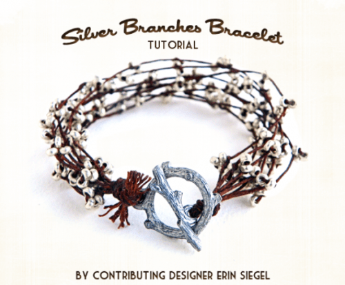 Beautiful DIY Silver Branches Bracelet