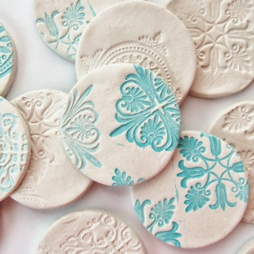 Beautiful diy stamped clay magnets 1 500x500
