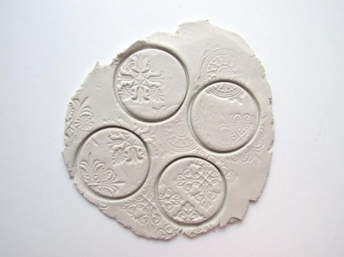 Beautiful diy stamped clay magnets 3 500x374