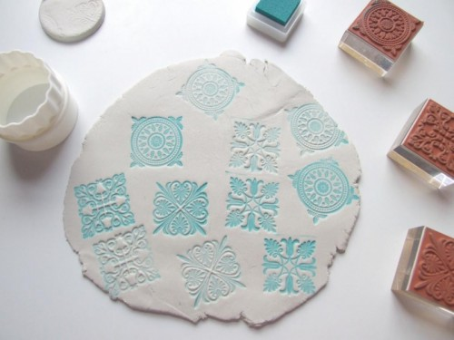 Beautiful diy stamped clay magnets 4 500x375