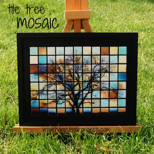 Beautiful DIY Glass Tile Tree Mosaic