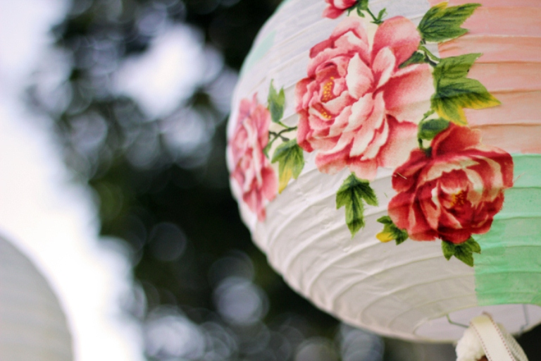 Beautifully Decorated DIY Paper Lanterns