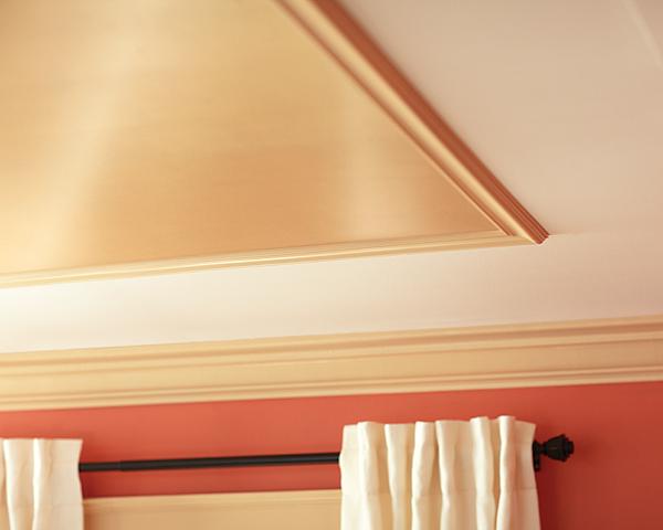 metallic painted ceiling