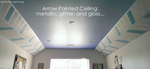 arrow painted ceiling (via thealisonmarieblog)