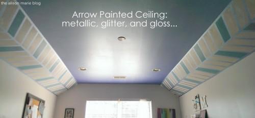 arrow painted ceiling (via thealisonmarieblog)