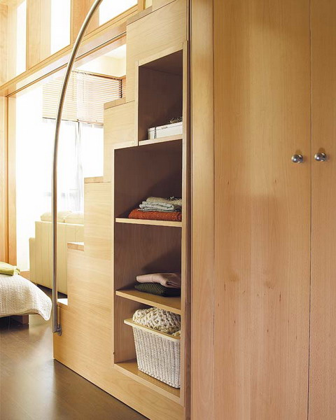 Bedroom Under Stairs Storage