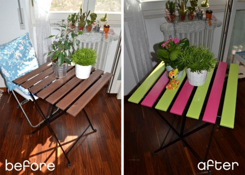 Before & After – Cute Upgrade Of An Garden Table From IKEA