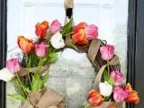 Beutiful Diy Tulip Wreath