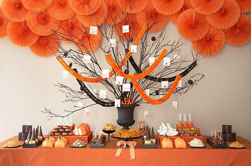 Big Halloween Tree For A Display Table